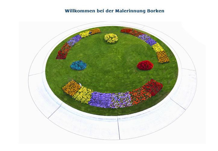 Kreisverkehr der Malerinnung Ahauser Straße in Borken