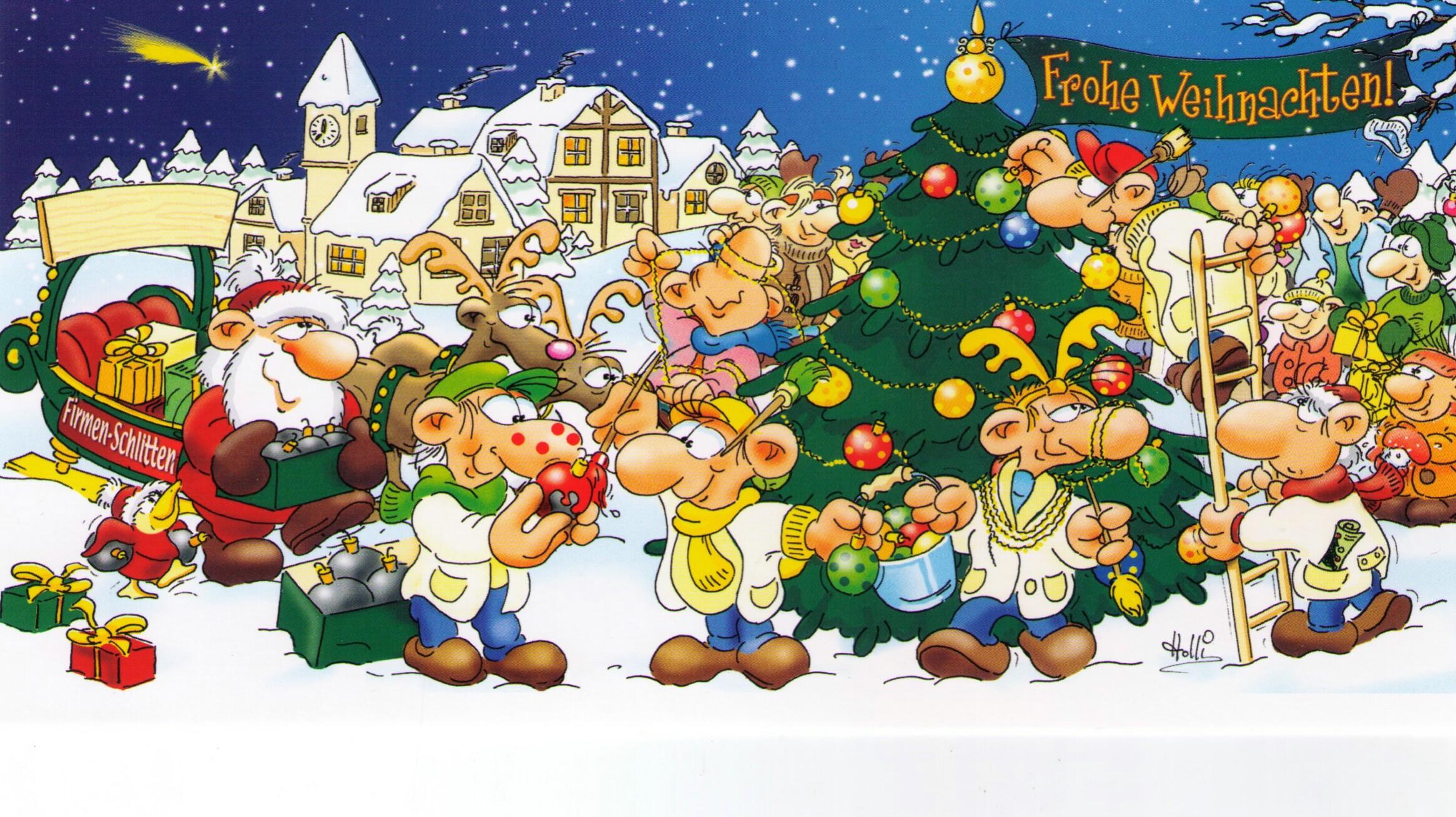 Holli Weihnachtsgrüße gescanntes Bild